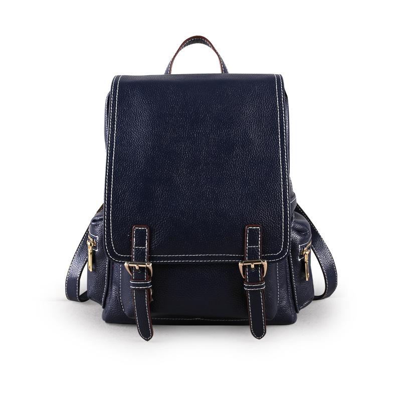 fashion backpack genuine leather women backpacks real leather school bags for girls travel shoulder bag female daily daypacks faux leather fashion women backpacks vintage casual daypacks shoulder bags travel bag free shipping