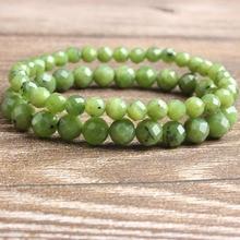 LanLi 6/8/10mm fashion natural Jewelry faceted Add jades stone beads Bracelet DIY Charms Men Strand Beads Yoga Women Bracelets