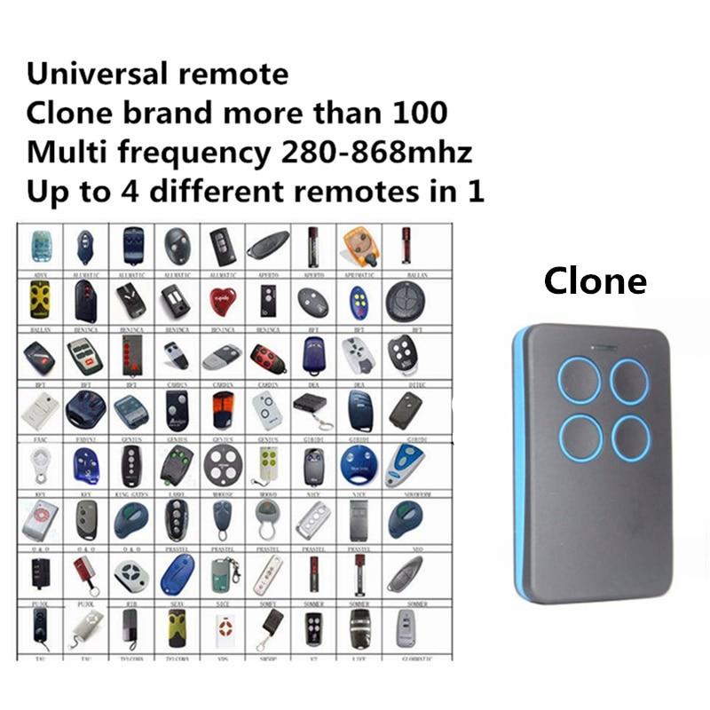 Duplizieren 280 mhz zu 868 mhz Fernbedienung Universal Fernbedienung 4 Kanal Befehl Handzender Garage Tor Schlüssel Fob