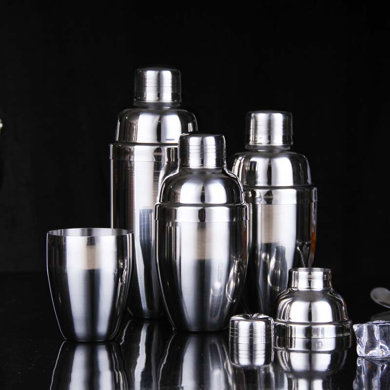 250ml 350ml 530ml 750ml 202 Stainless Steel Martini Cocktail Shaker Bar Tools Wine Shakers
