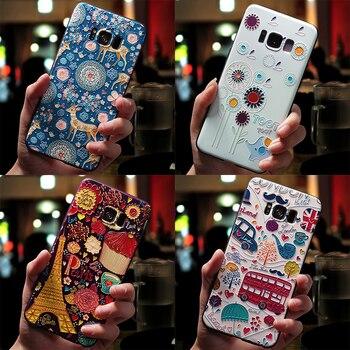 3D flor relieve caso para Samsung Galaxy S10 S10e más J2 J3 J5 J7 primer 2017 de 2016 J4 J6 J8 2018 2015 Neo Nota 8 9 caso de TPU suave