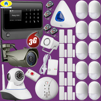 Full Kit G90B Plus+ 3G GSM Wifi APP Control Home Security Alarm System Fire Alarm 1080P WiFi IP Camera