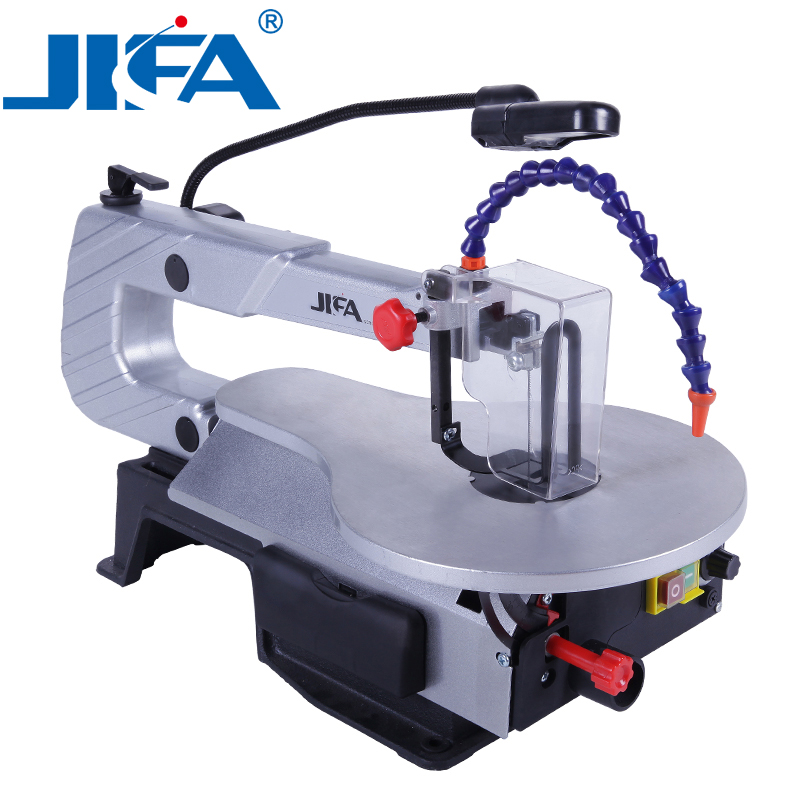 Woodworking Scroll Saw 150W Wood Scroll Saw 406mm Max Cutting Width Jig Saw 127mm Height Saw Blade Drawloom scroll 203x153