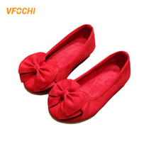 VFOCHI 2019 Girls Casual Shoes 5 Color Bowknot Flats Wedding Children Party Dancing Teenager Dress