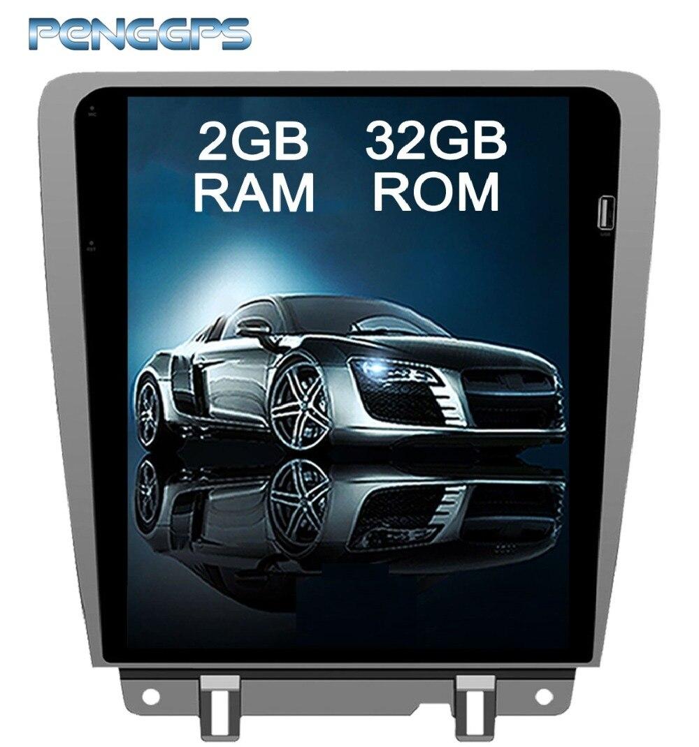 12.1 Polegada 2 Rádio Din Android 7.1 para Ford Mustang 2010 2011 2012 2013 2104 de Navegação GPS Do Carro DVD Player tesla Estilo Unidade Central