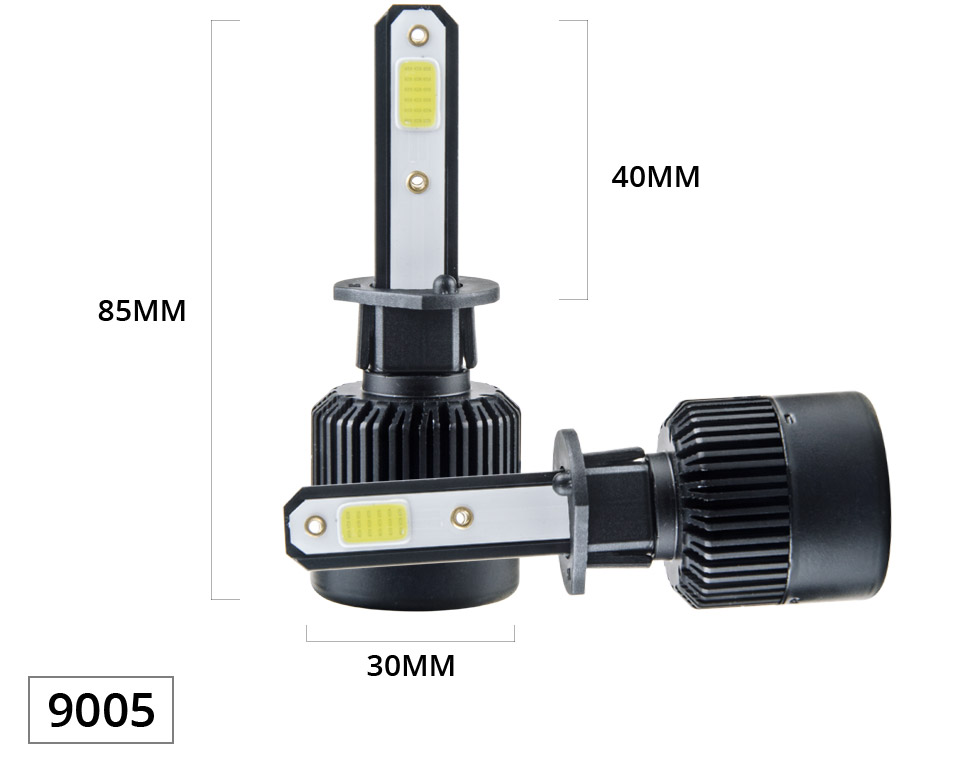1 pcs LED H7 LED Car Headlight Bulb 8000LM LED H4 H7 H11 9005 9006 9012 4300k 6500k COB Hight Low beam MINI 12V 24V 72W 50000h (11)