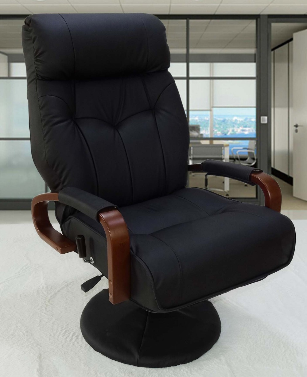 office leather recliner pu w adobestock with reclining homcom footrest executive chair