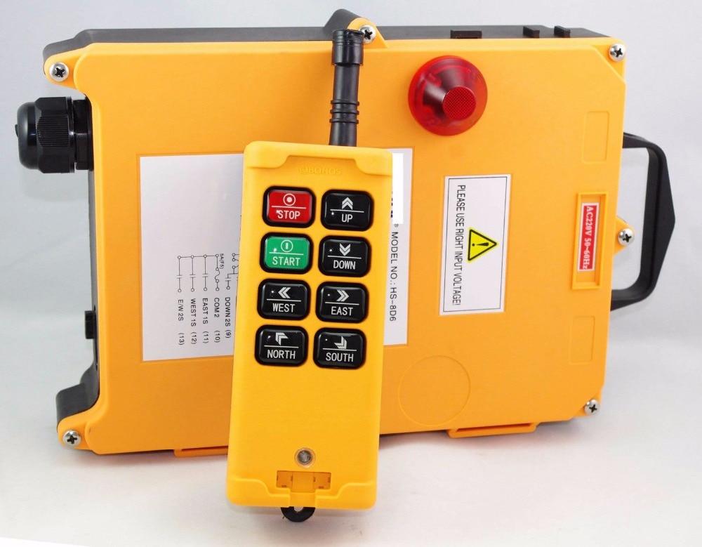 1PCS 3 Motions 8 Channels 2 Speed Hoist Crane Truck Radio Remote Control System