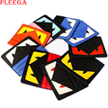 100% Real Leather Monster Card Bag Famous Brand Small Monster Card id Holders Genuine Leather Credit Card Holder Case 9 Color