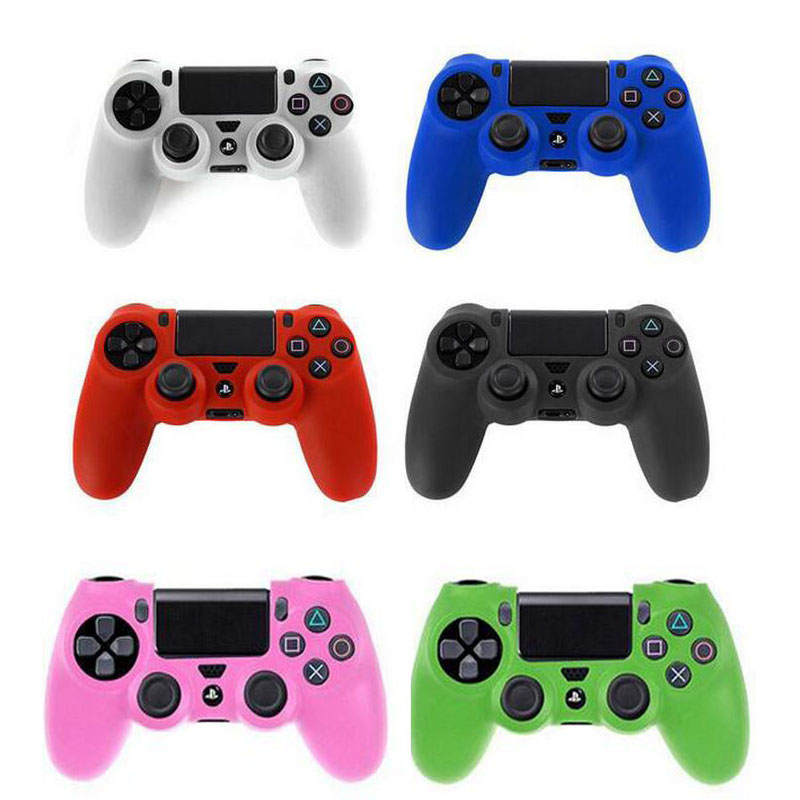 цена Rubber Silicone Gel Gamepad Joypad Protective Skin Cover Case For Sony PlayStation Dualshock 4 PS4 Controller Protection Shell