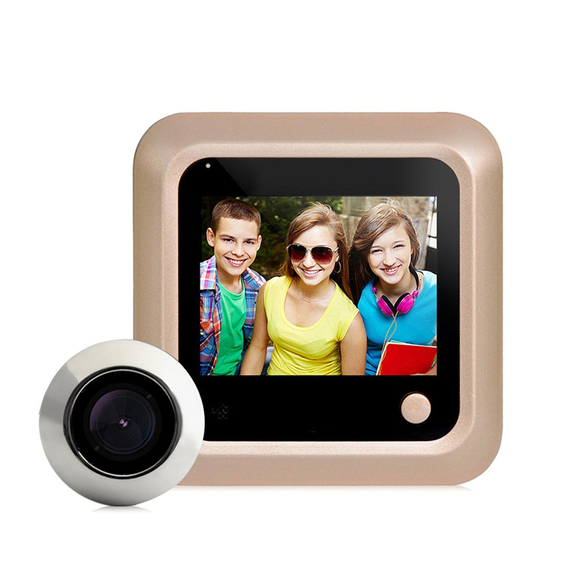 DANMINI 2.4 LCD Color Screen Electronic Door Bell 160 Degree Peephole Viewer Door Camera Doorbell Home Security Camera x5 home smart doorbell security door peephole camera electronic cat eye and hd pixels tft color screen display audio door bell