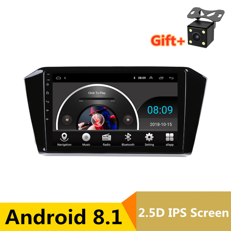 "10"" 2.5D IPS Android 8.1 Car DVD Multimedia Player GPS For Volkswagen VW Passat B8 2016 2017 2018 audio radio stereo navigation"