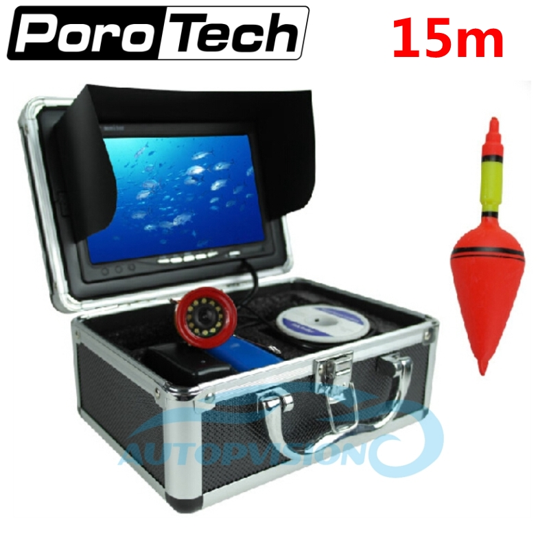 SY710 15m Video Underwater Camera+8G SD 7LCD Monitor 1000TVL Professional Underwater Fish Finder system Ice Lake Fishing camera цена