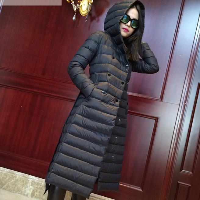 plus size 3XL!2018 New Winter Warm Coat Women Slim Duck Down Jacket Long Long Down Parka Casual Outwear Hooded Parkas
