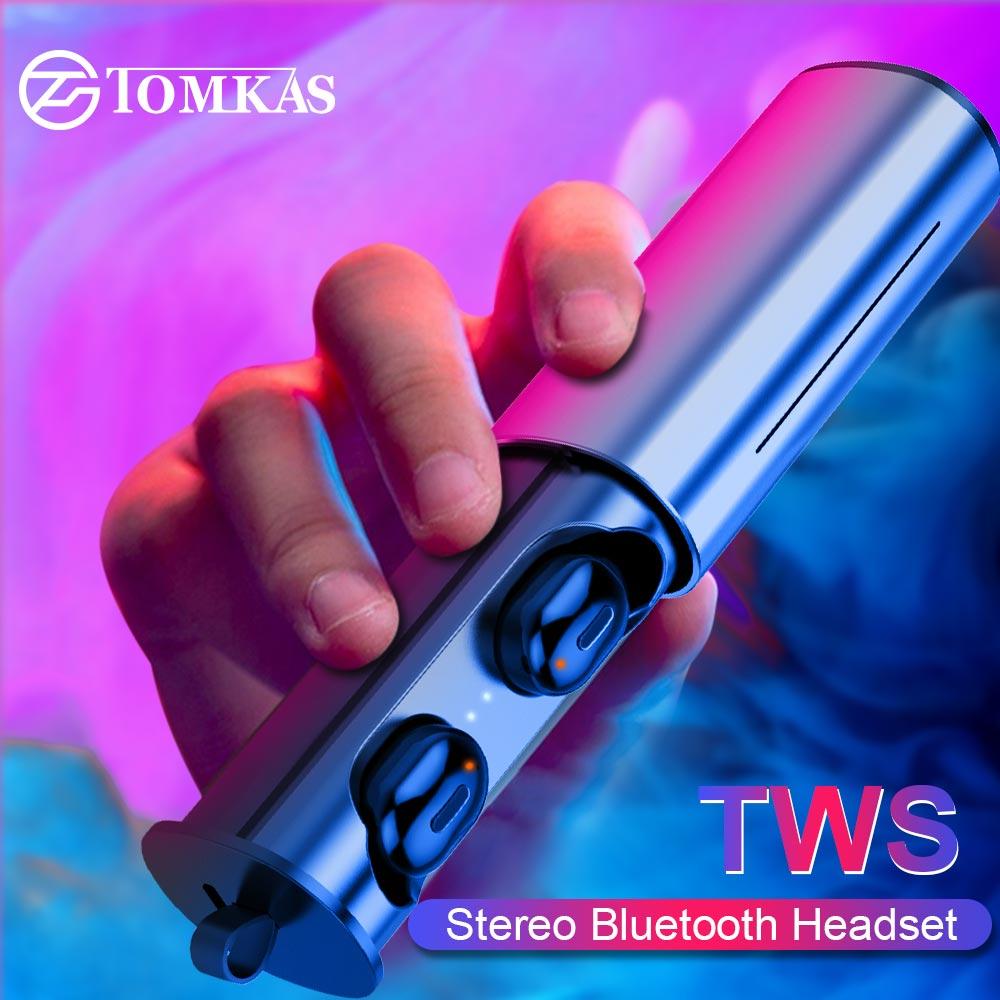 Mini deporte auricular inalámbrico cierto TWS auriculares Bluetooth inalámbrico 5,0 auriculares Auriculares auriculares para Android IOS teléfono con caja de carga