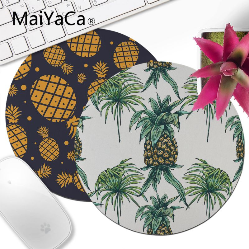 MaiYaCa Pineapple Summer Icons Game Speed Mice Retail Small Rubber Round Mousepad DIY Carpet Customized Non-Slip mouse pad anime