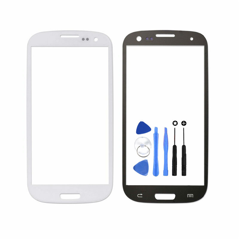Vannego Freies Verschiffen für Samsung Galaxy S3 I9300 I9305 I747 Ersatzteile LCD Vordere Digitizer Touchscreen Objektiv Äußeres Glas