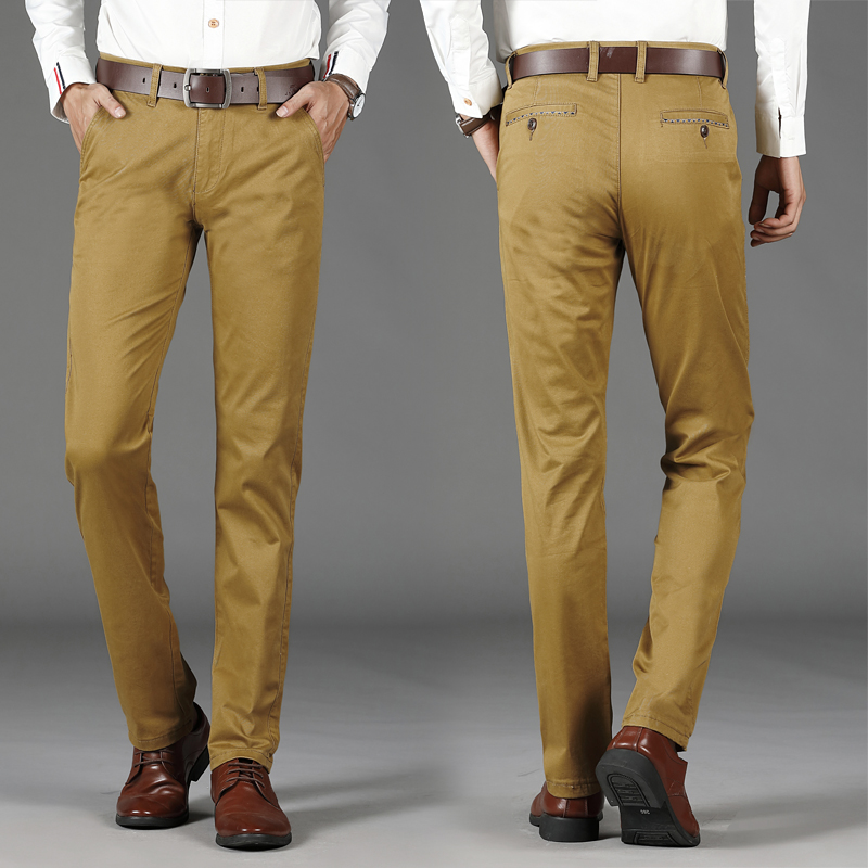 Image 2 - VOMINT Mens Casual Basic Pants Simple Trousers Regular Straight  Pocket Details Trousers Stretch Pants Male Big Size 44 46pants male -