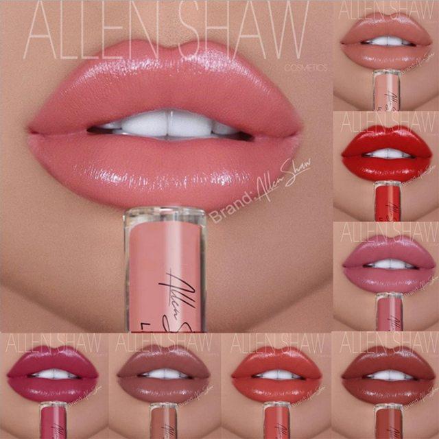 Brillo de labios húmedo brillo Nude brillo labial impermeable de larga duración brillo de labios Sexy mujeres brillo líquido maquillaje colorido