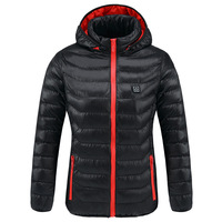 Heated outdoor vest Coat Women Men USB Electric Battery Long Sleeves Heating Hooded Jacket Warm winter Thermal Clothing Skiing
