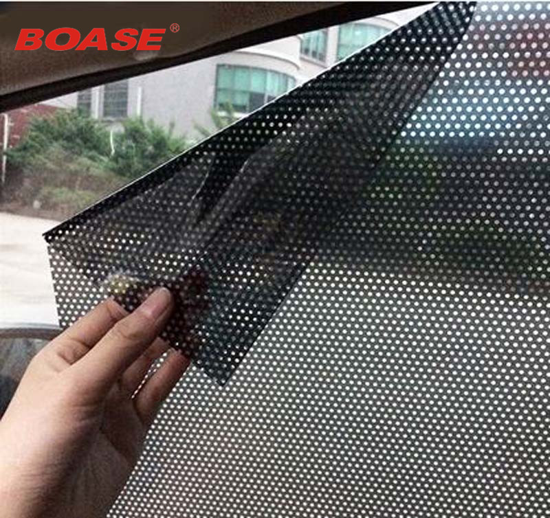 Auto styling 2 stks / partij Uv sticker Auto zonnescherm elektrostatische stickers auto levert zonblok zonwering stickers