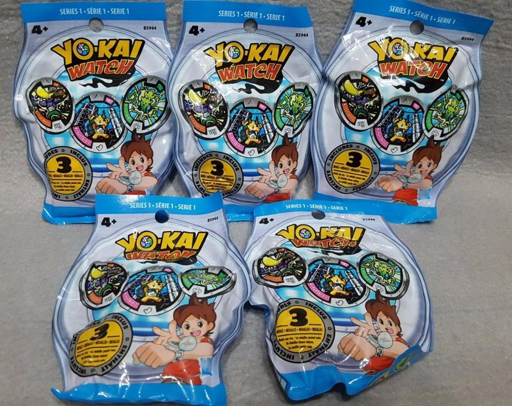 5 упаковок, магнитные часы YoKai, медали серии 1, серии 2, серии 3, серии 4, запечатанные Новые