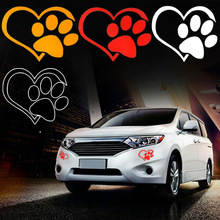 3pcs Car Stickers Cute Cat Dog Paw Print Reflective Car Decal Sticker Window Footprint Decals Free Shipping стоимость