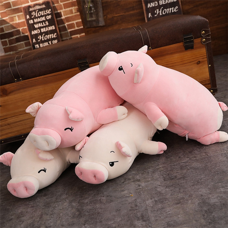 kawaii cartoon pig plush toy doll big stufefed fat pink pigs dolls sleeping pillow for children girls gift 43inch 110cm DY50445 (6)