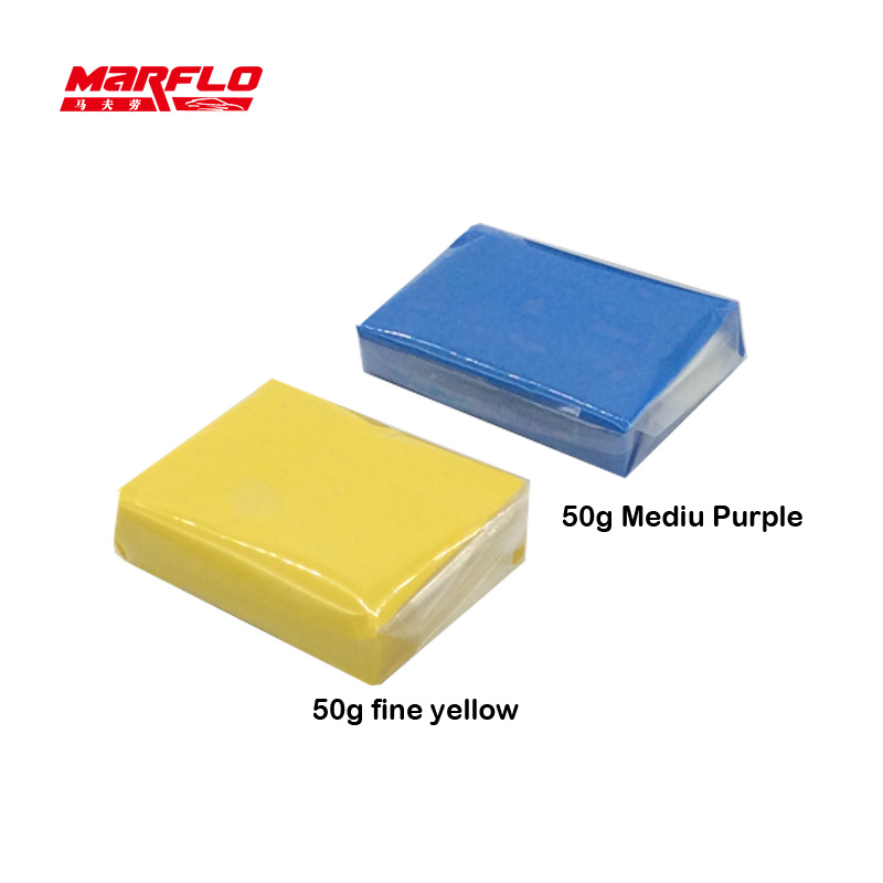 Latest Collection Of Marflo Magic Clay Bar 2pcs With Sponge Applicator Blue Yellow Auto Cleaning Detailing Clean Clay Bar By Brilliatech Up-To-Date Styling Automobiles & Motorcycles