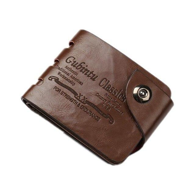 90c2687f2ebde Mini mężczyzn portfele męskie mały rozmiar US portmonetki posiadacze kart w  stylu kowbojskim magnetyczna klamra klasyczny