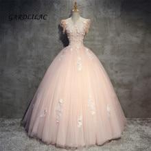 2019 scoop blush rosa quinceanera vestidos de tule renda vestido baile baile baile baile vestido doce 16 vestidos de 15 anos