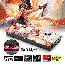UK plug 999 Em 1 Game Console Arcade Usb Joystick De Arcade botões Kit Duplo Joystick Do Console Com a Luz do Flash Suporte HDMI VGA