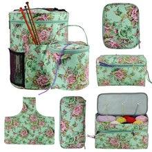 цена на Looen Empty Knitting Storage Bag For Crochet Hook And Knitting Needles DIY Yarn Crochet Bag Sewing Tools Accessories For Women