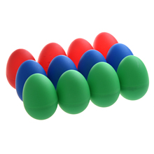 12x Egg Maracas Plastic Percussion Music Shakers Color: Blue (4 pieces), red (4 pieces) and green (4 pieces)