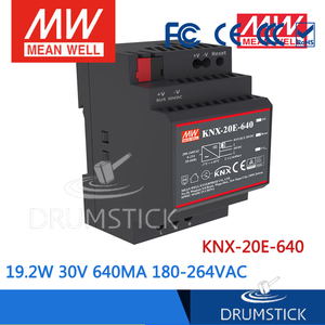 Image 4 - בצורה חלקה מתכוון גם KNX 20E 640 19.2W 30V 640mA meanwell KNX 20E 180 264VAC החלפת ספקי כוח