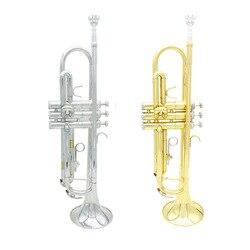 Qualidade superior trompete bb b plana durável trompete de bronze com um bocal banhado a prata um par de luvas e requintado saco de show