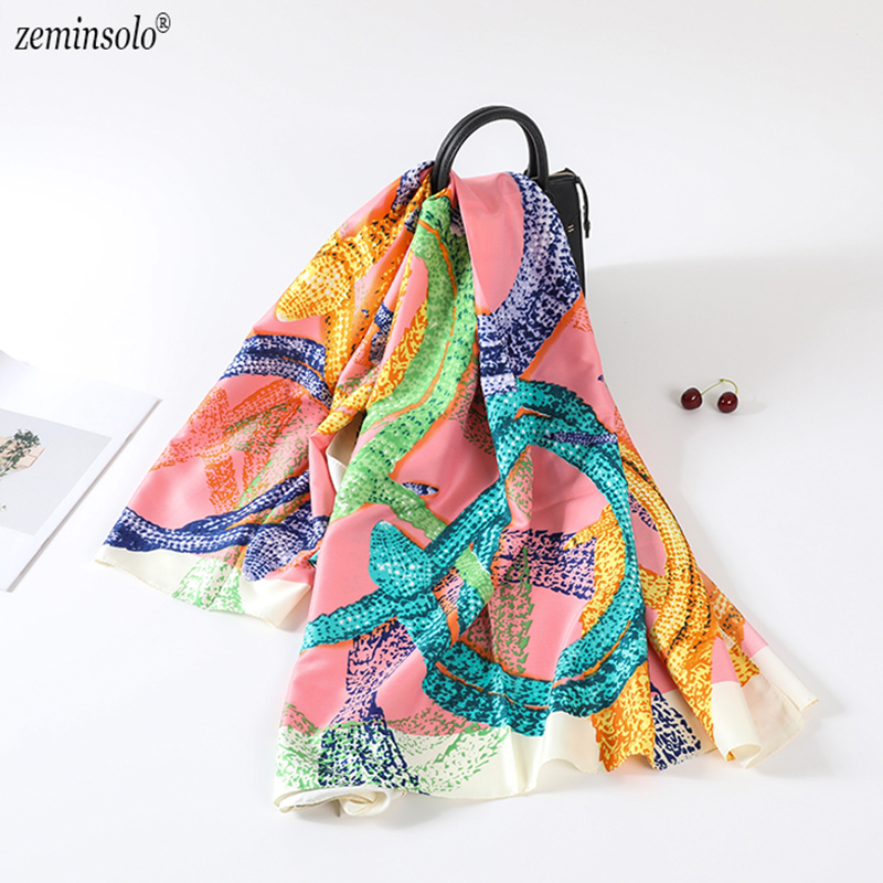 Luxury Brand Summer Women's   Scarf   Fashion Lady 100% Silk   Scarves     Wraps   Print Soft Shawls Female Square Bandana   Scarves   130*130cm