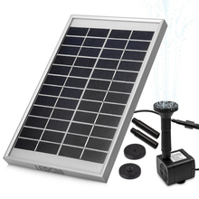 LEDGLE 5W Solar Fountain Pump Garden Water Pump for Courtyard Panel Kit Solar Power Fountain Pool Pond Garden Landscape Aquarium outdoor solar powered bird bath water fountain pump for pool garden aquarium pump kit for bird bath garden pond 1set