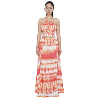 Two Piece Set Tie Dye Dress Women Sundress Robe Sexy Club Off Shoulder Crop Top and Maxi Skirt Sets Beach Long Party Summer Sets