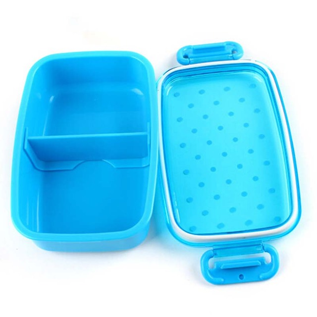 Portable Polka Dot Lunch Food Container Boxes Kids Fruit Snack Microwave Bento Lunch Bowl