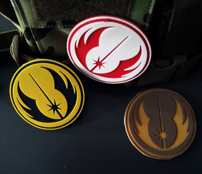 20pcs Star Wars Jedi Order Galactic Republic Patch PVC Morale Patch Star Wars Badge by NEO