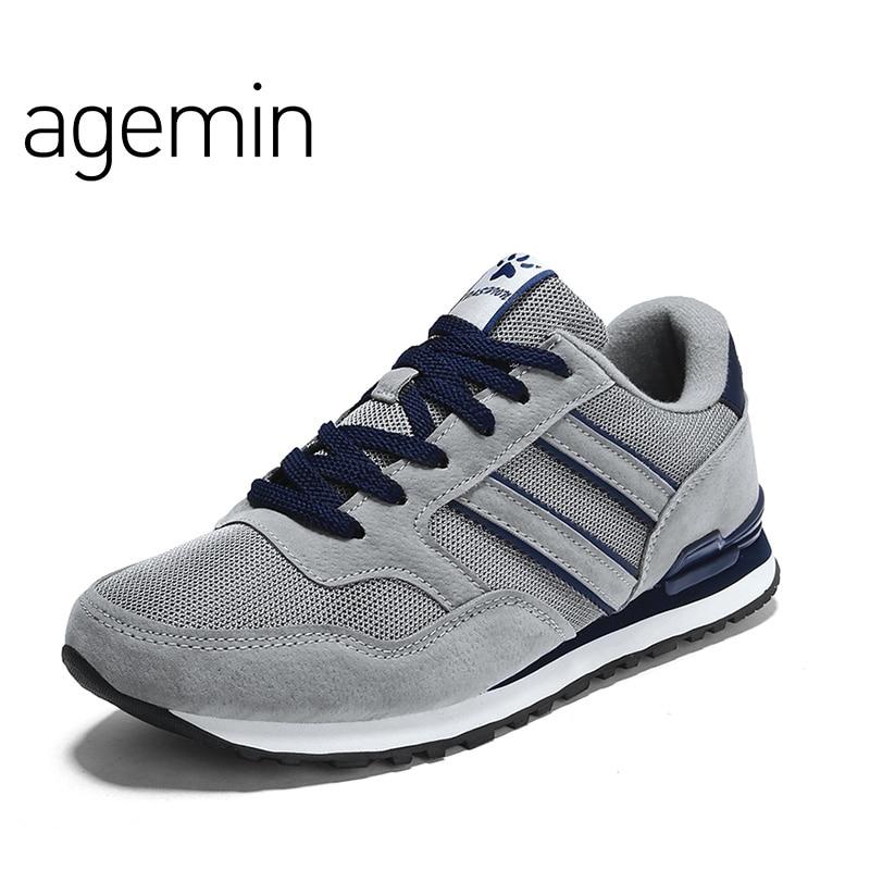 Scarpe casual in pelle di agemin estate scarpe da uomo in mesh - Scarpe da uomo
