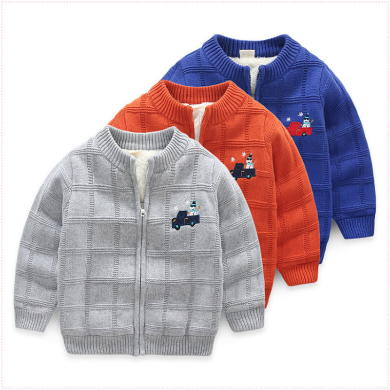 baby boy knitting cardigan winter toddler boys christmas sweaters tops autumn kids jacket blue long sleeve zipper coat 2 8t in sweaters from mother kids