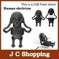Frete grátis esqueleto USB flash drive pen drive 4 G 8 G 16 G 32 G 100% capacidade total não atualizar no produtos falsificados