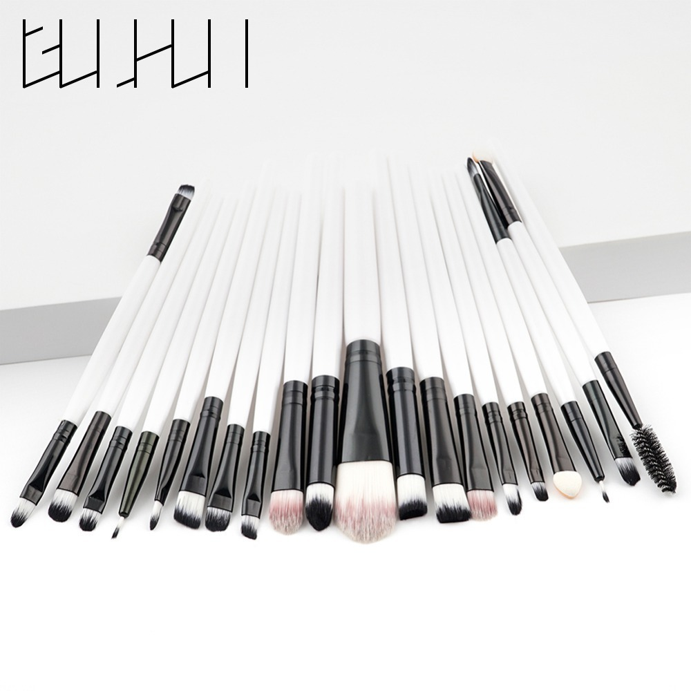 Pro 20pcs Eyes Makeup Brushes Set Eye Shadow Blending Powder Eyeliner Eyebrow Lip Eyelash Cosmetics Brushes Beauty Tool Kit miss gorgeous makeup brushes set powder foundation steel eyelashes comb combination brush eye shadow eyelash eyeliner eyebrow