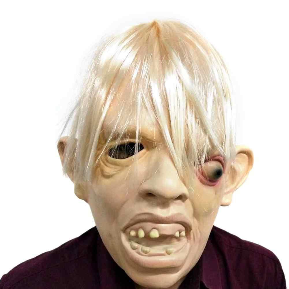 Straszny potwór maska całą twarz oddychające straszna maska na Halloween Fancy Cosplay sukienka na imprezę kostium festiwal lateksowe maska dla dorosłych