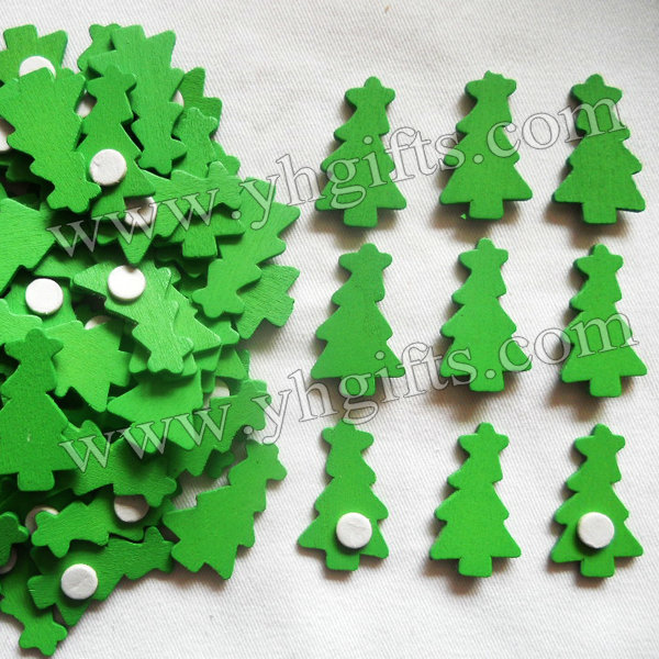 1000pcs/Lot,Wood christmas tree stickers,Kids toys,scrapbooking kit,Early educational DIY.Kindergarten crafts.Classic toy2x3.5cm