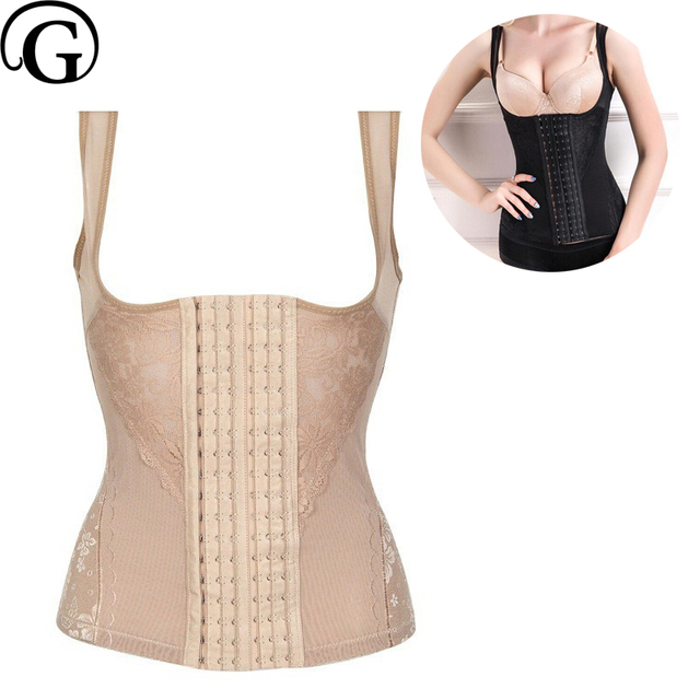 006977925d PRAYGER 2pcs 6XL 6 Rows Hooks Sexy Body Shaper Slimming Waist Cincher Tummy  Control Corsets Women