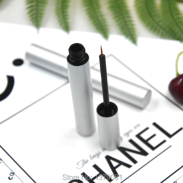 10/30/50PCS 3ML Silver Aluminum Eyeliner Liquid Packing Tube, Empty Eye Liner Packaging Bottle,Cosmetics Packing Container free shipping 3 pp eyeliner liquid empty pipe pointed thin liquid eyeliner colour makeup tools lfrosted purple