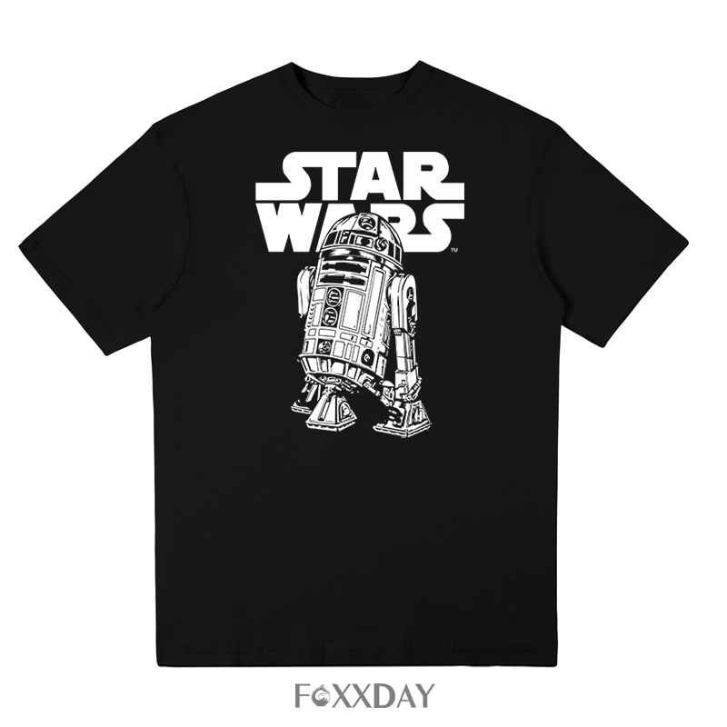 Classic R2D2 T Shirt Star Wars Men Summer 100% Cotton Graphic T-shirt Newest Plus Size Clothing Cool Tee Shirt Free shipping